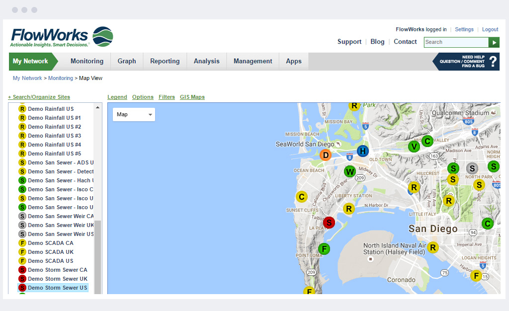 Map-based Network Overview