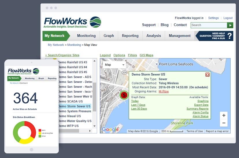 FlowWorks Mobile and Desktop Browser